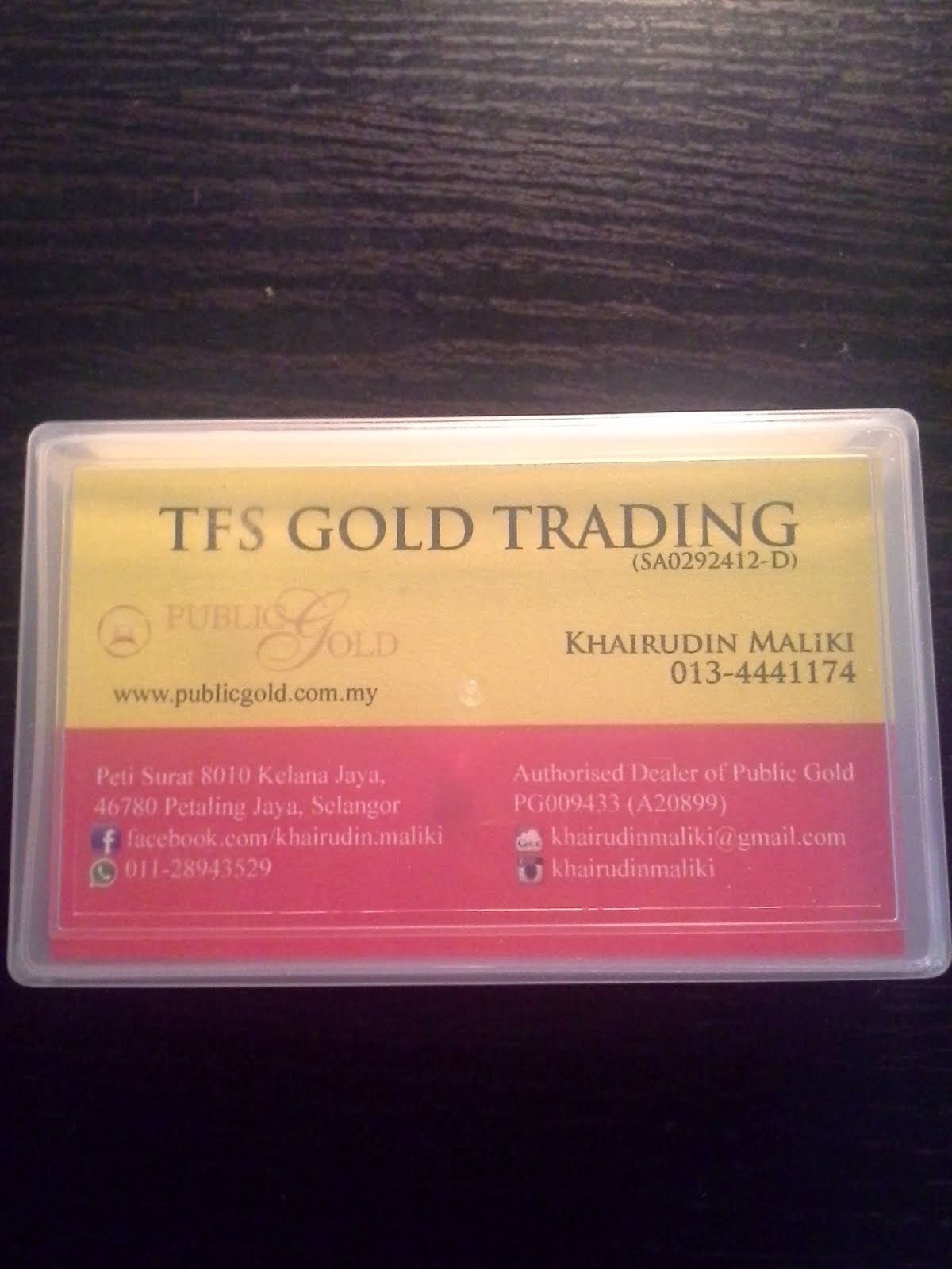 Gold Business Opportunity - Introduced by TFS Gold Trading @ PG009433
