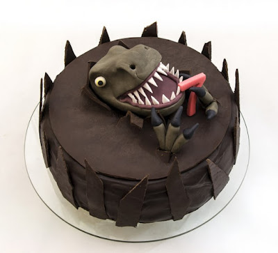 Torta Dinozaver - Dinosaur cake fondant