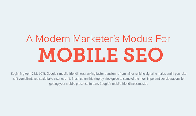 A Modern Marketer's Modus for Mobile SEO