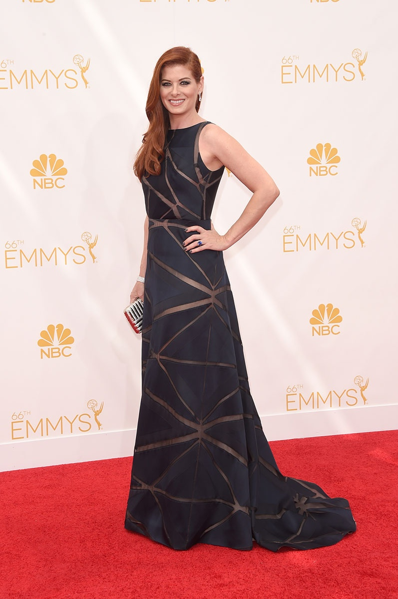 66th Emmys- Debra Messing Gown by Angel Sanchez