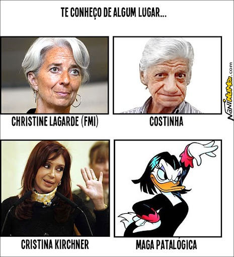 Cristina Kirchner e Christine Lagarde do FMI