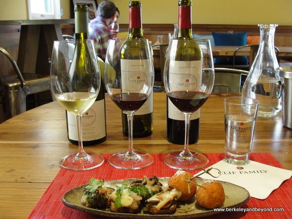 Bruschetteria Trio pairing at Clif Family Velo Vino Tasting Room in St. Helena, California