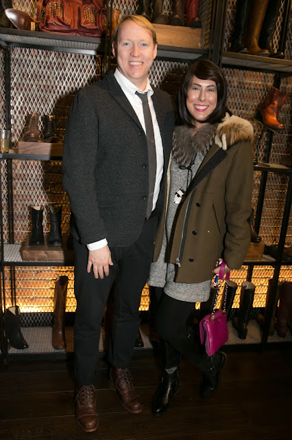 Michael Petry and Jessica Moazami at The Frye Company's 150th anniversary party.