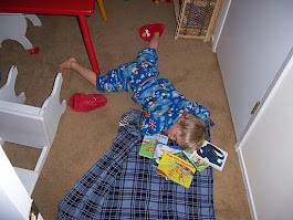 My son sleeping peacefully at age four. My, how times have changed!