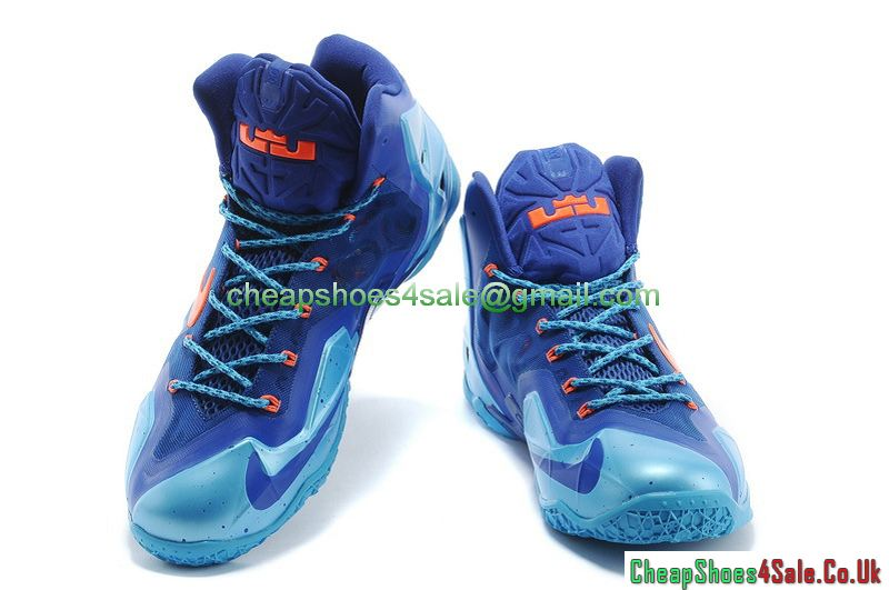 Nike Lebron XI 11  Mens Basketball Shoes Royal BlueOrange 2014
