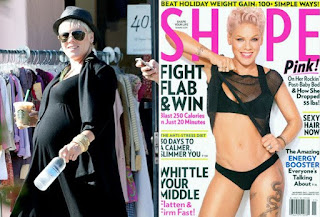 singer Pink, weightloss, Pink loses 55 pounds,