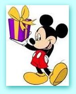 mickey+gift 2 Its GIVEAWAY Friday on Monday!