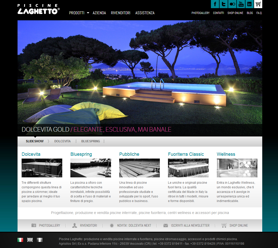 Online il sito laghetto 2012 piscine laghetto news blog for La piscine online