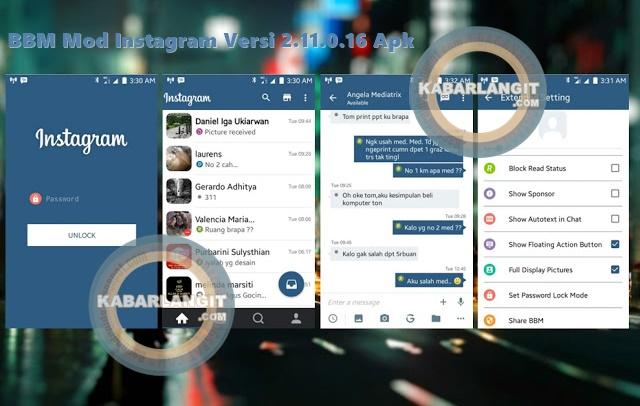 Download BBM Mod Thema Instagram Terbaru Versi 2.11.0.16 Apk
