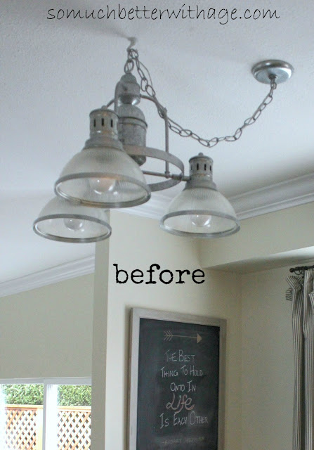 New Kitchen Light So Much Better With Age