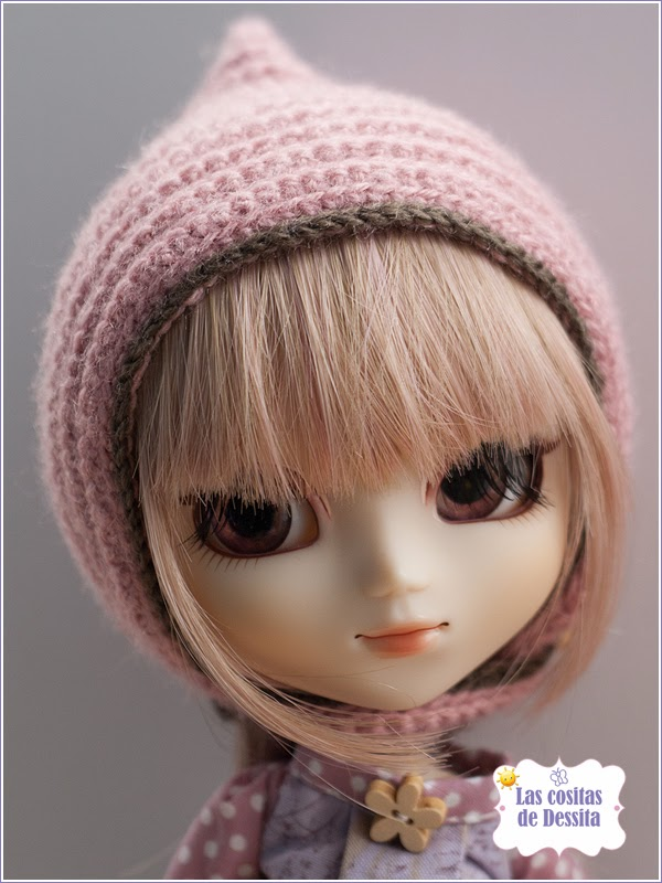 vestido pullip gorrito crochet