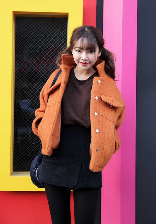 Woolen Spread Collar Jacket