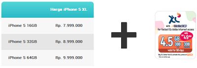 harga iphone 5 xl prabayar