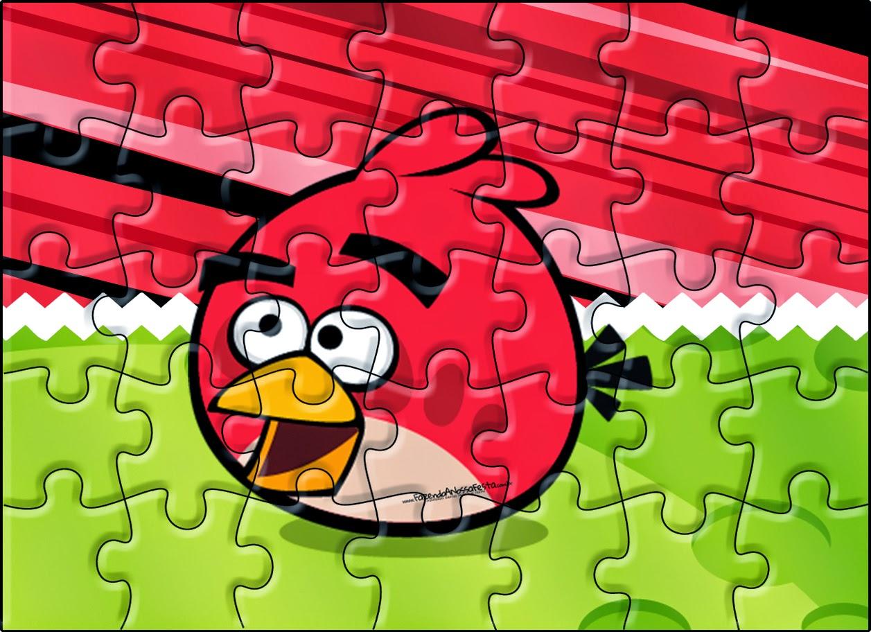 Imprimibles Puzzle de Angry Birds para imprimir gratis.