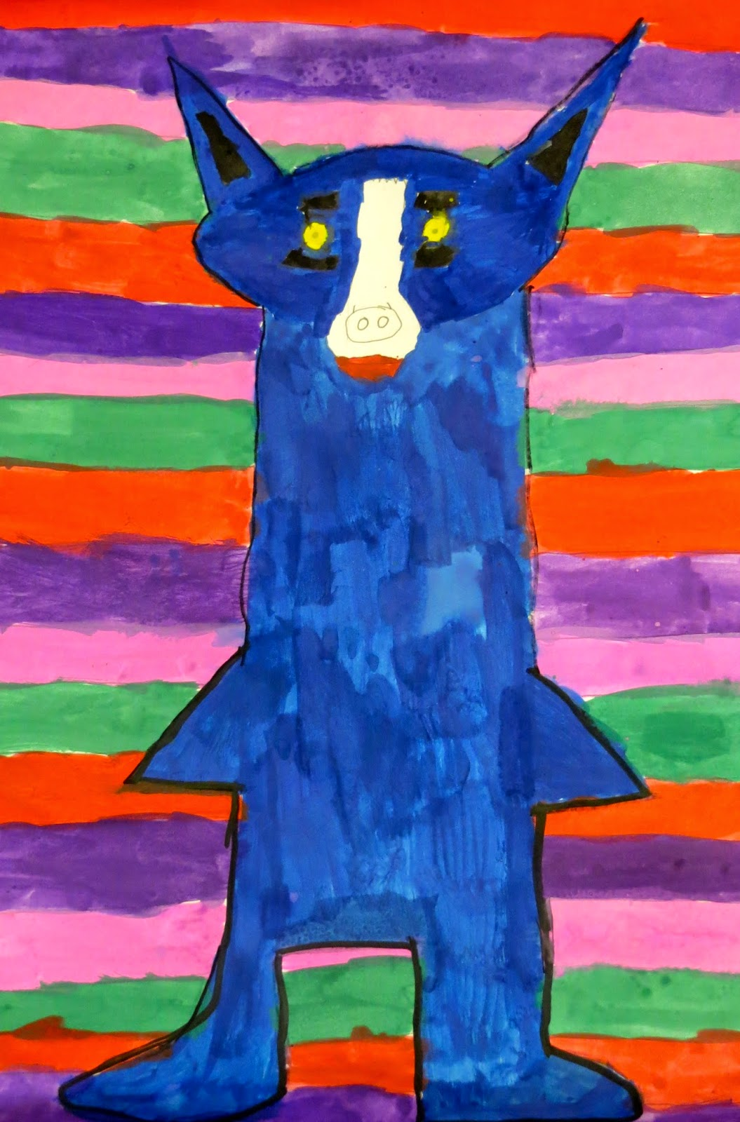 the creative license  inspired by george rodrigue  blue