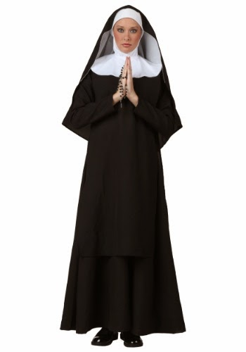 A nun with hands clasped in prayer