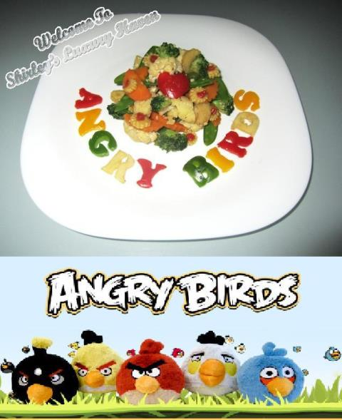 cooking rovio angry birds vegetables