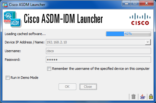 cisco asdm  for asa 5520