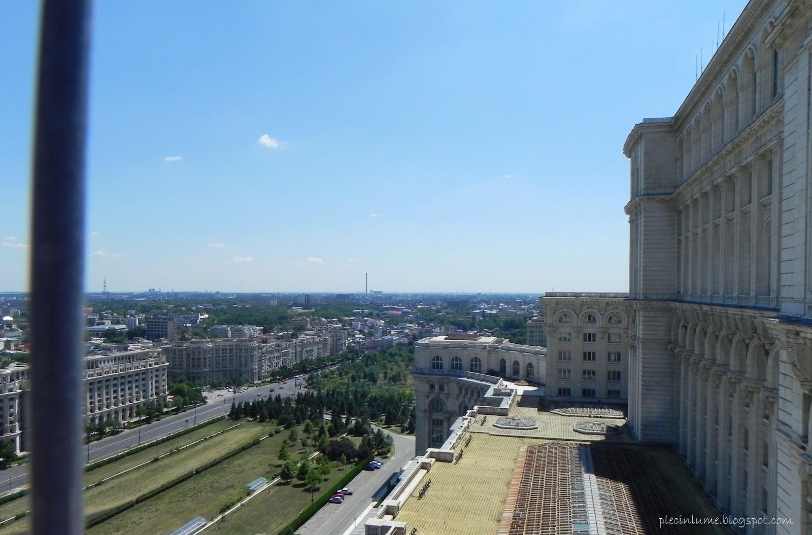 Priveliste de pe terasa la Casa Poporului