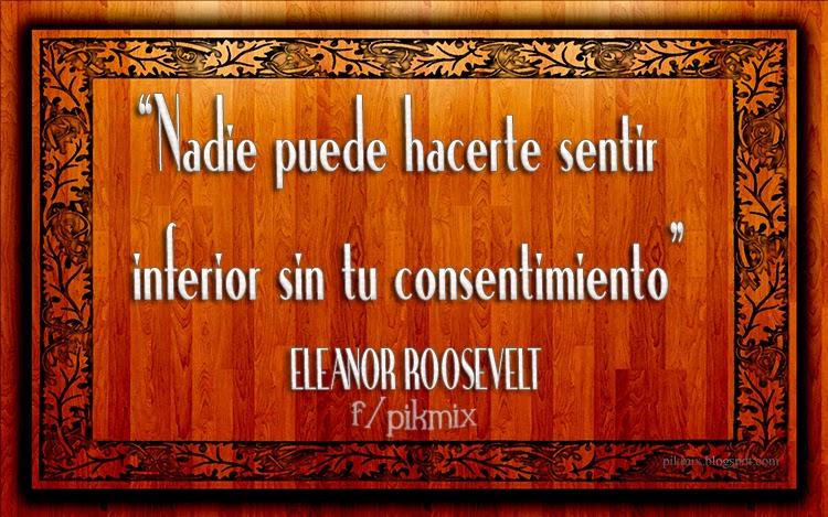 Frase motivacional ~ Nadie puede  ~ marco de madera