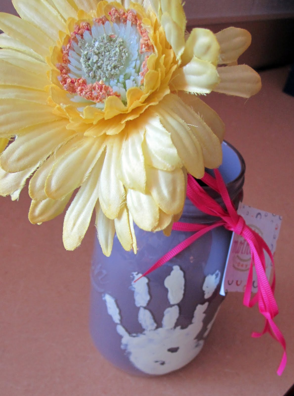 Mothers Day Craft Ideas Kids Part - 44: Mothers Day Mason Jar Kids Craft