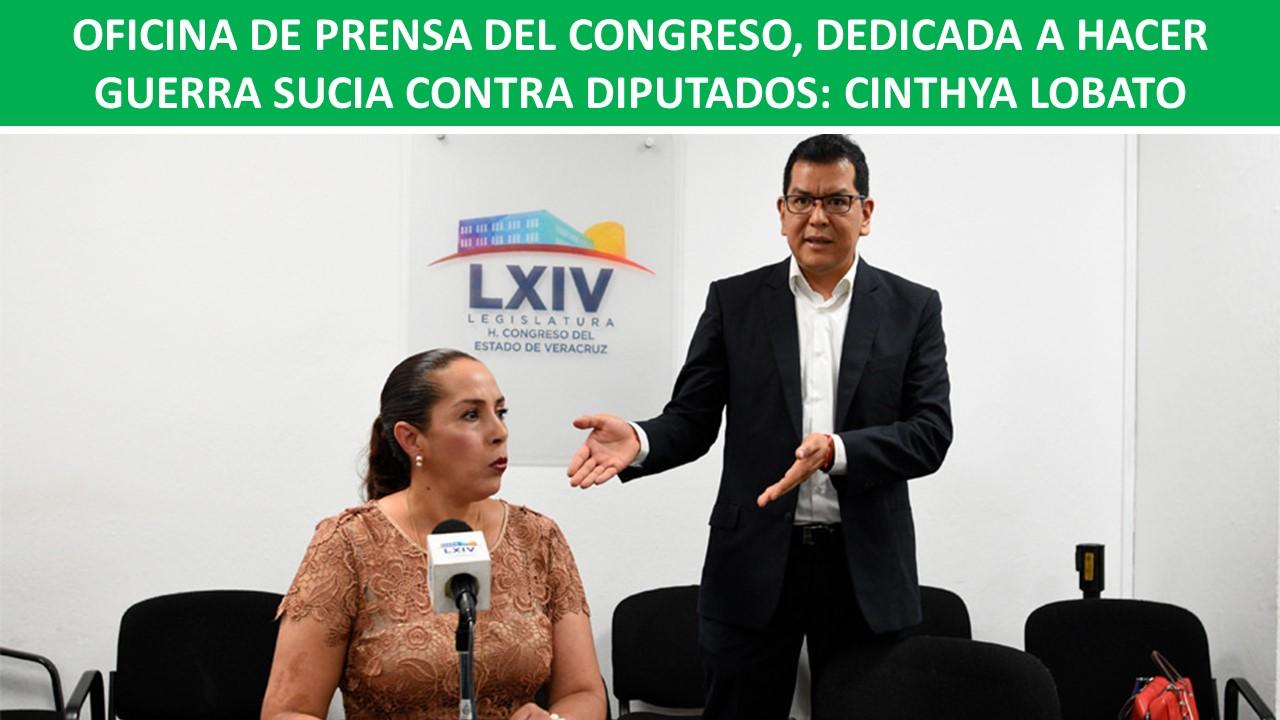 GUERRA SUCIA CONTRA DIPUTADOS: CINTHYA LOBATO
