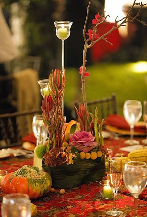 2014 beautiful fall wedding centerpieces by azalea floral for Autumn wedding decoration ideas