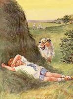 Pintura O garoto azul, de Ella Dolbear Lee (1918)