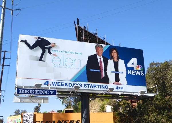 Ellen NBC news billboard
