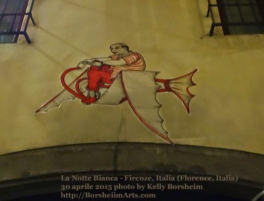 Florence Italy La Notte Bianca White Night Street art Leonardo da Vinci