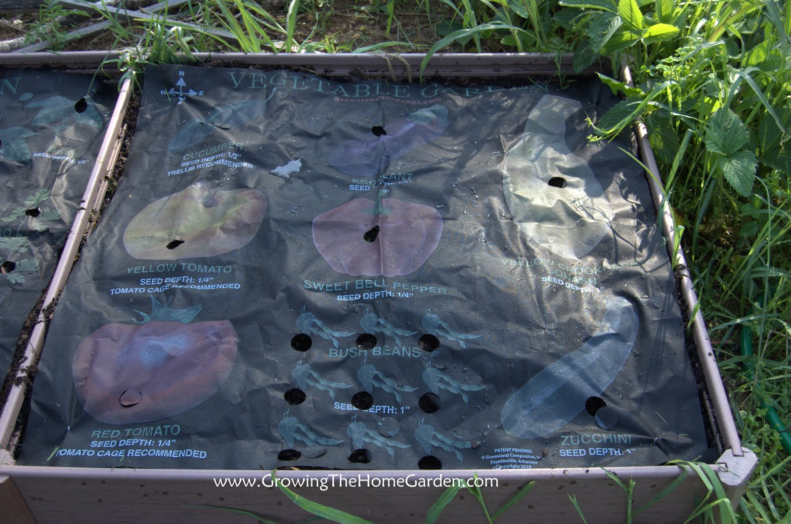 Raised Bed Vegetable Garden Layout Plans All the seed planting holes