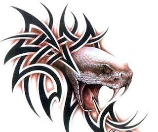 tribal head white snake tattoo designs