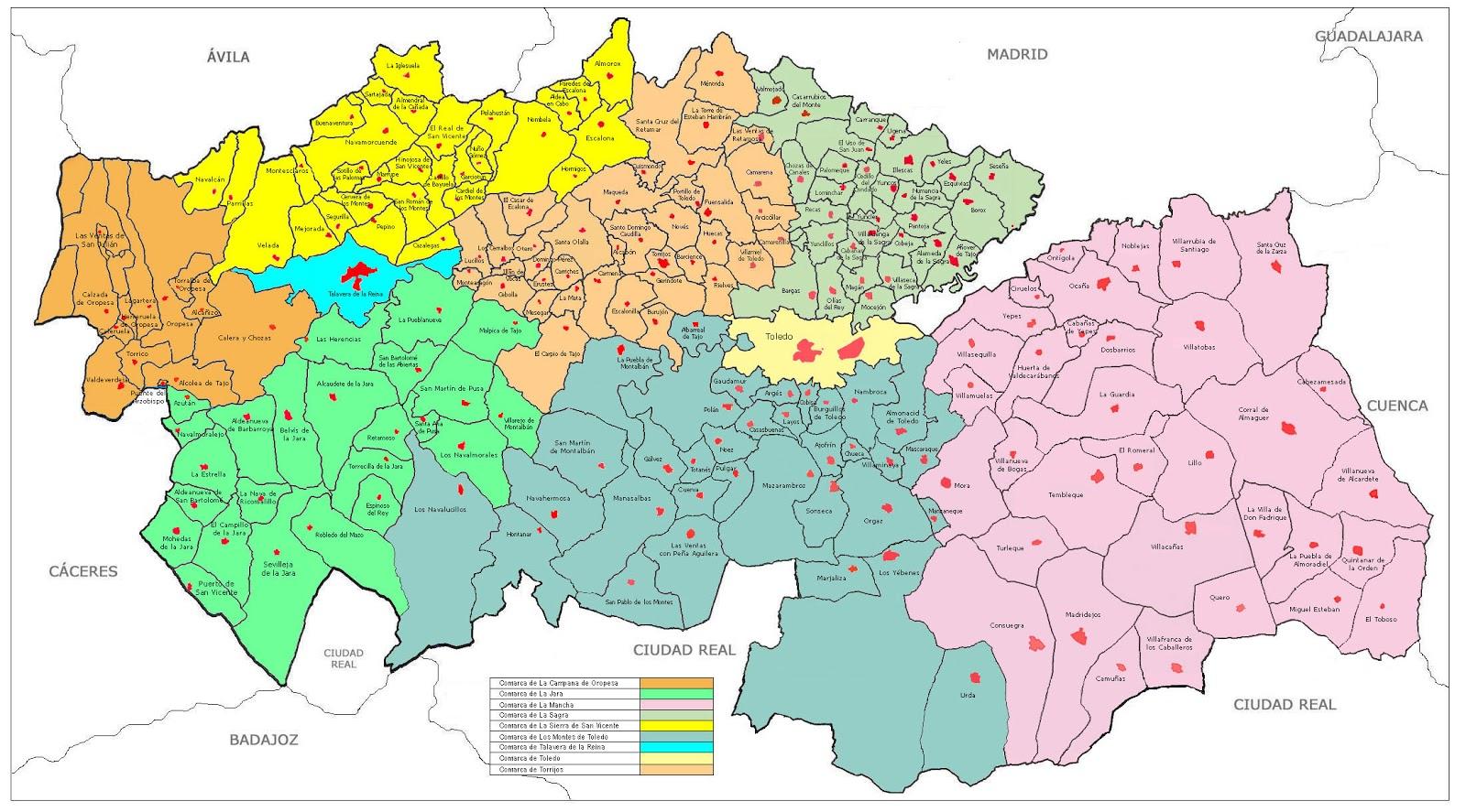 Mapa De Toledo Provincia  My blog