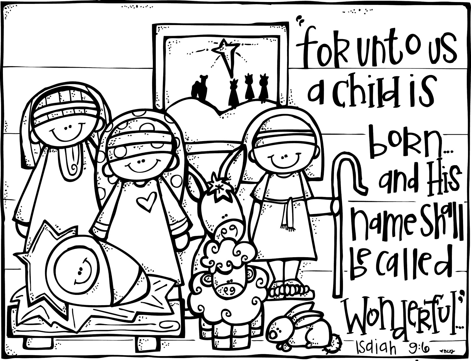 free christmas nativity coloring pages - photo#10