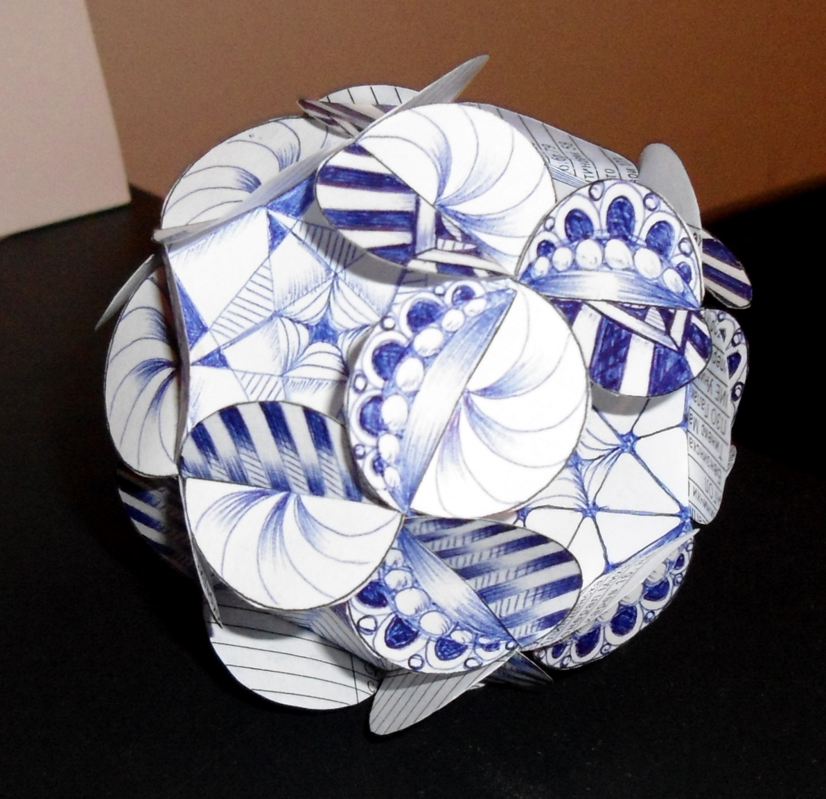 paper ball ornament instructions