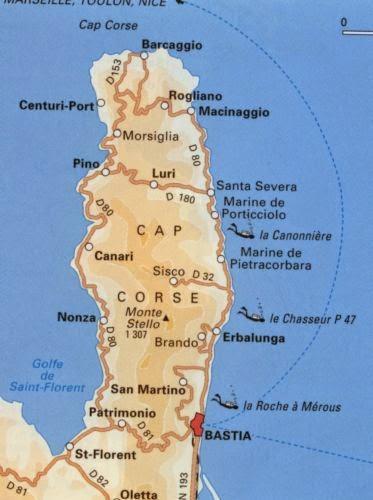 Carte du Cap Corse
