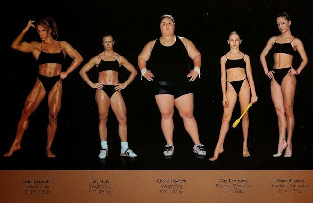 formas cuerpo mejores atletas del mundo comparados