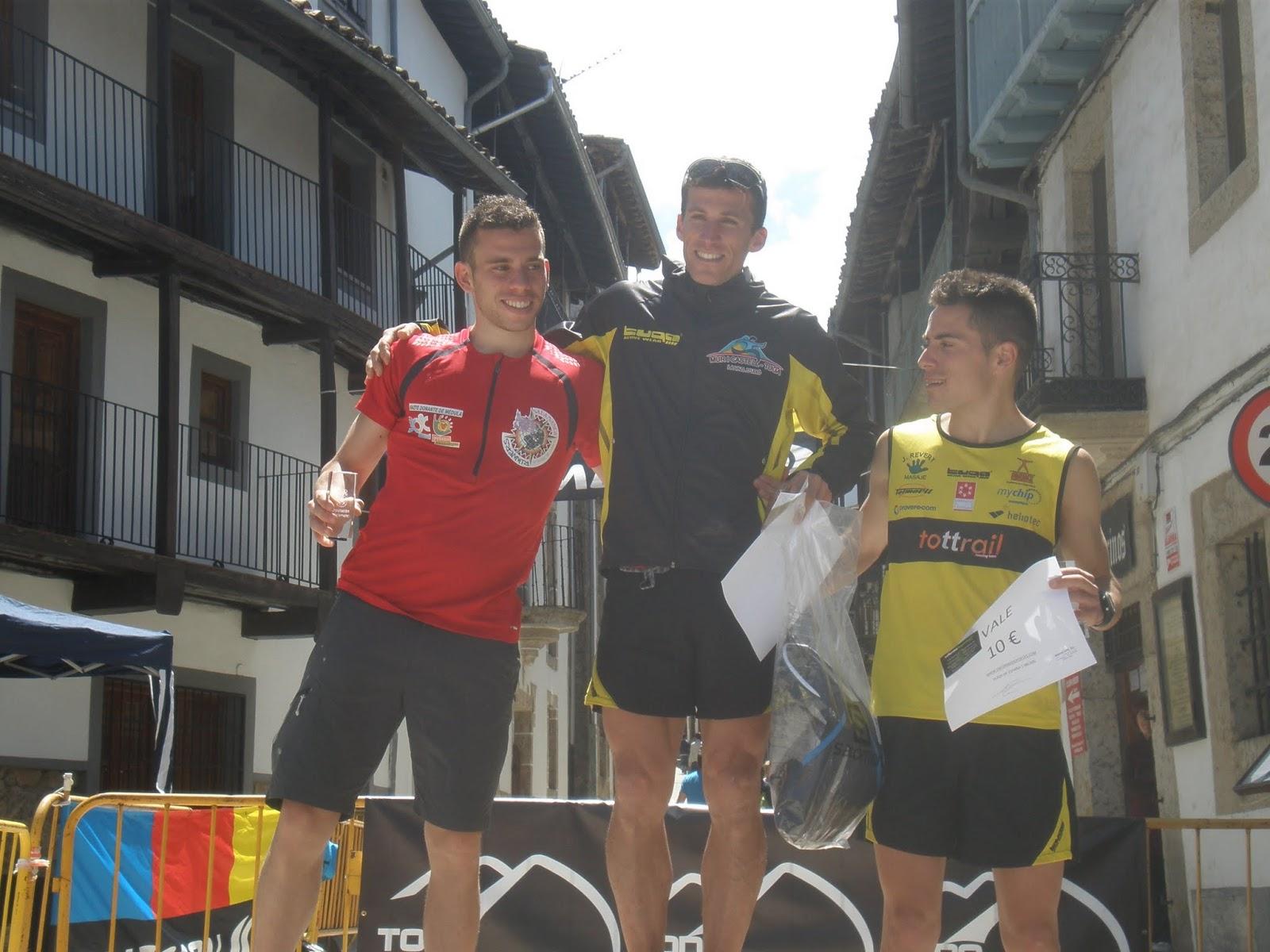 Podium masculino del kilometro vertical Candelario 2013