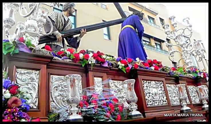 Hermandad de San José Obrero Semana Santa de Sevilla 2014 Sábado de Pasión Señor de la Caridad y Virgen de los Dolores