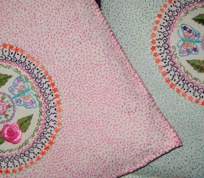 hand-embroidered pillows