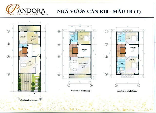 biệt thự pandora mẫu 1B tầng 1,2,3,4