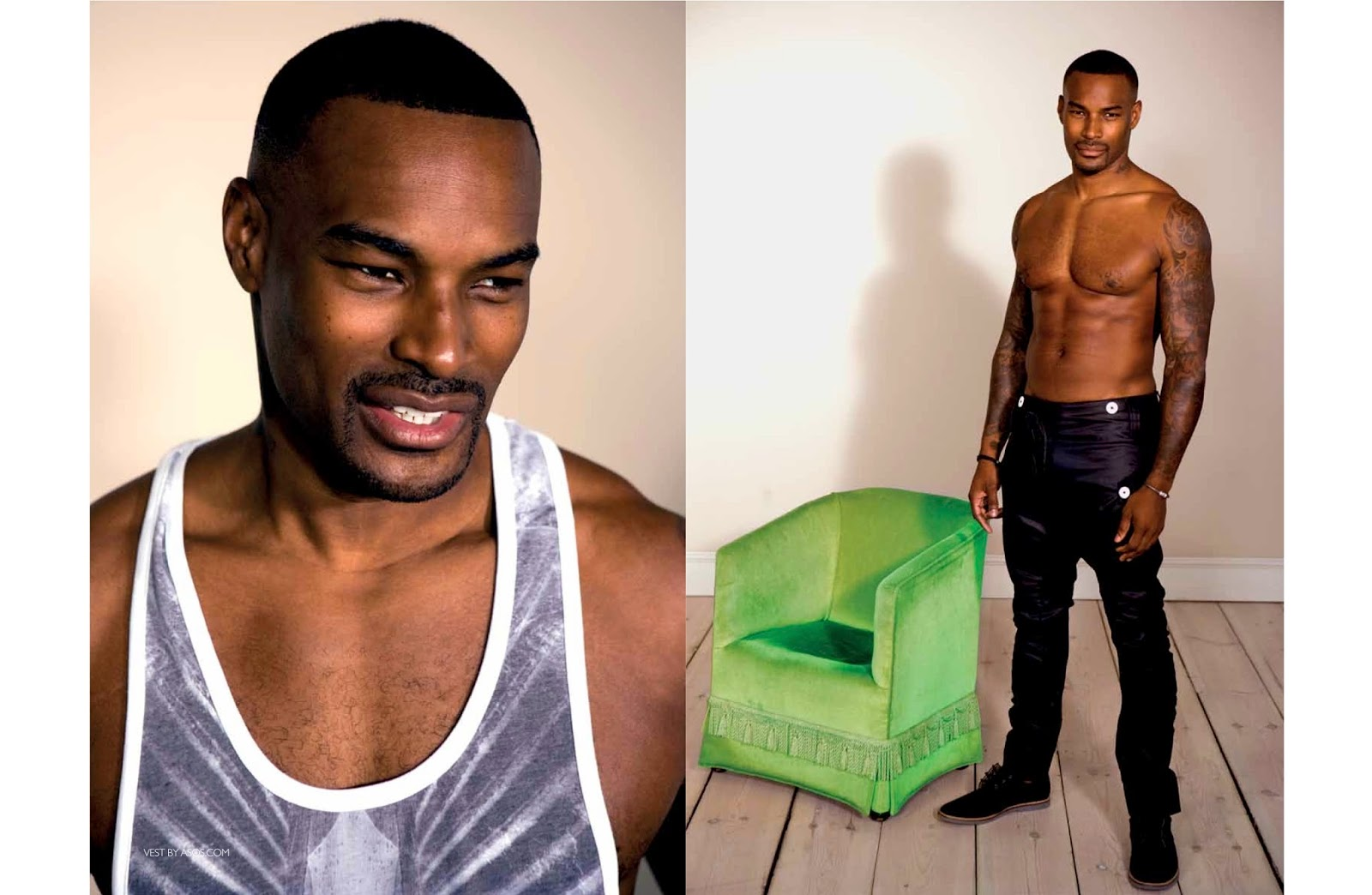 American Film Actor Tyson Beckford Without Shirt Images