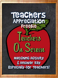 Teachers Appreciation FREEBIE!