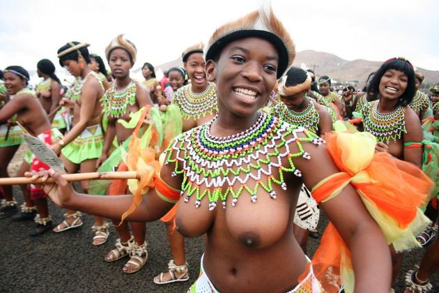 Zulu African Tribe Girl