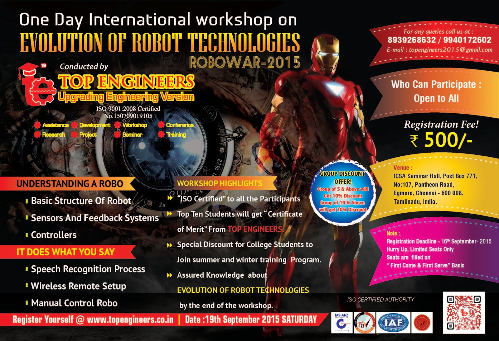 International Workshop on Evolution of Robot Technologies - Robowar 2015