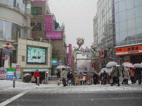 Snow in Harajuku