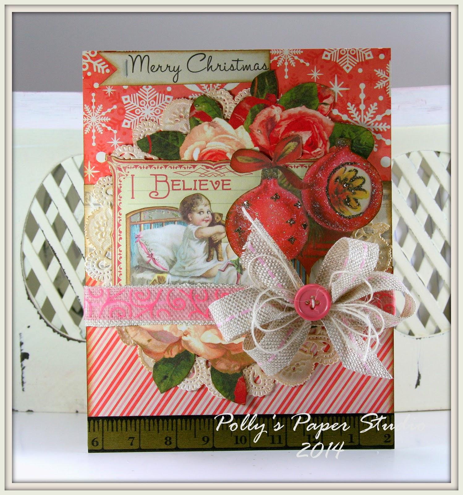 Really Reasonable Ribbon Blog I Believe Christmas Card