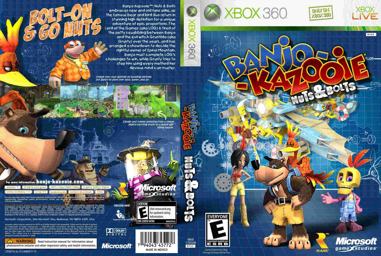 Games Covers Banjo Kazooie Nuts Bolts Xbox 360