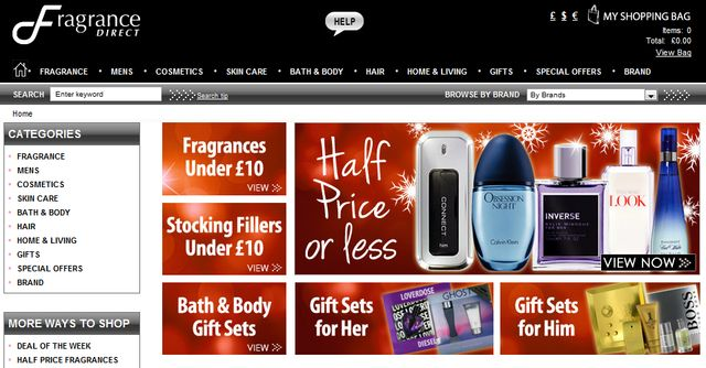 Perfume Christmas Sale at Fragrance Direct's Online Perfume Shop