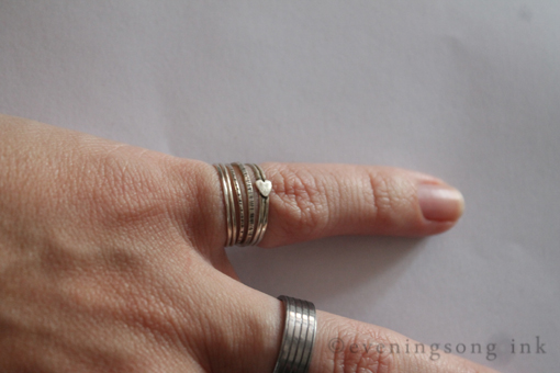 stacking dainty rings in sterling silver